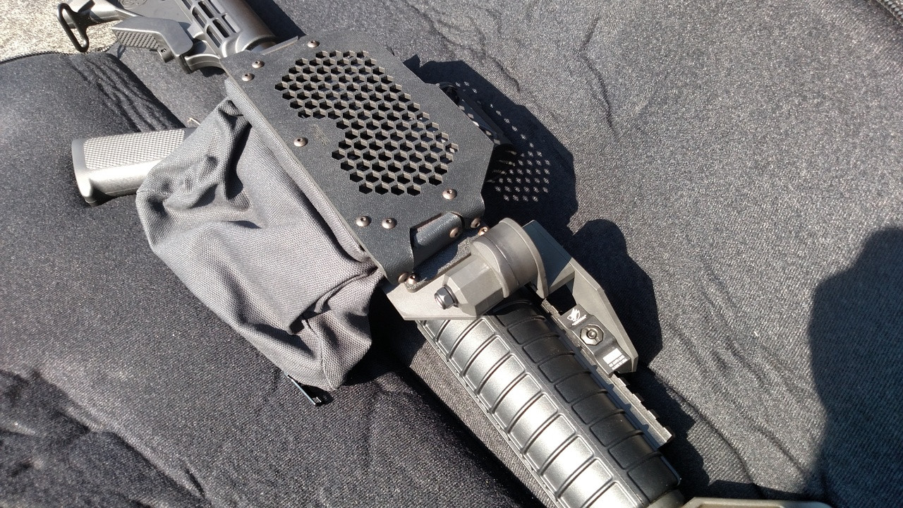 shown in SWEPT REAR Configuration with ADD A RAIL kit on 2 piece handguards.
