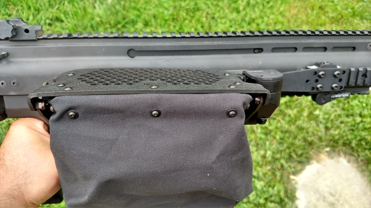sits lower than regular Operator models to allow for charging handle use on ejection port side.