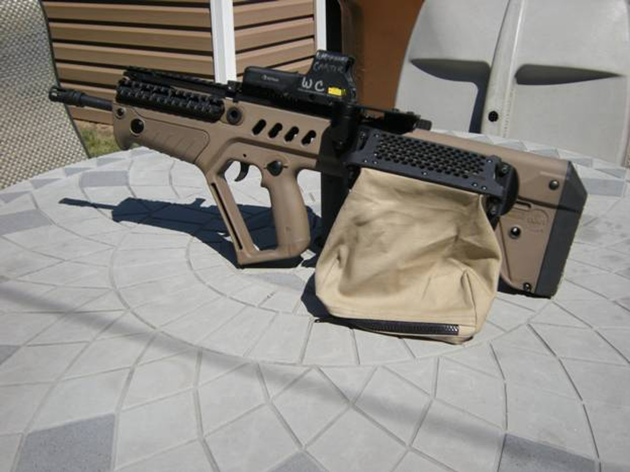 user can change TAVOR model from Right eject to Left eject using same parts and provided tools.