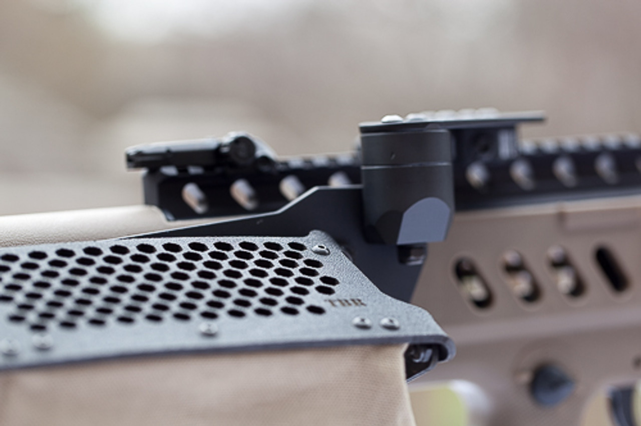 shown on higher Gearheadworks rail.  contact us by email about configuring for these type aftermarket rails.