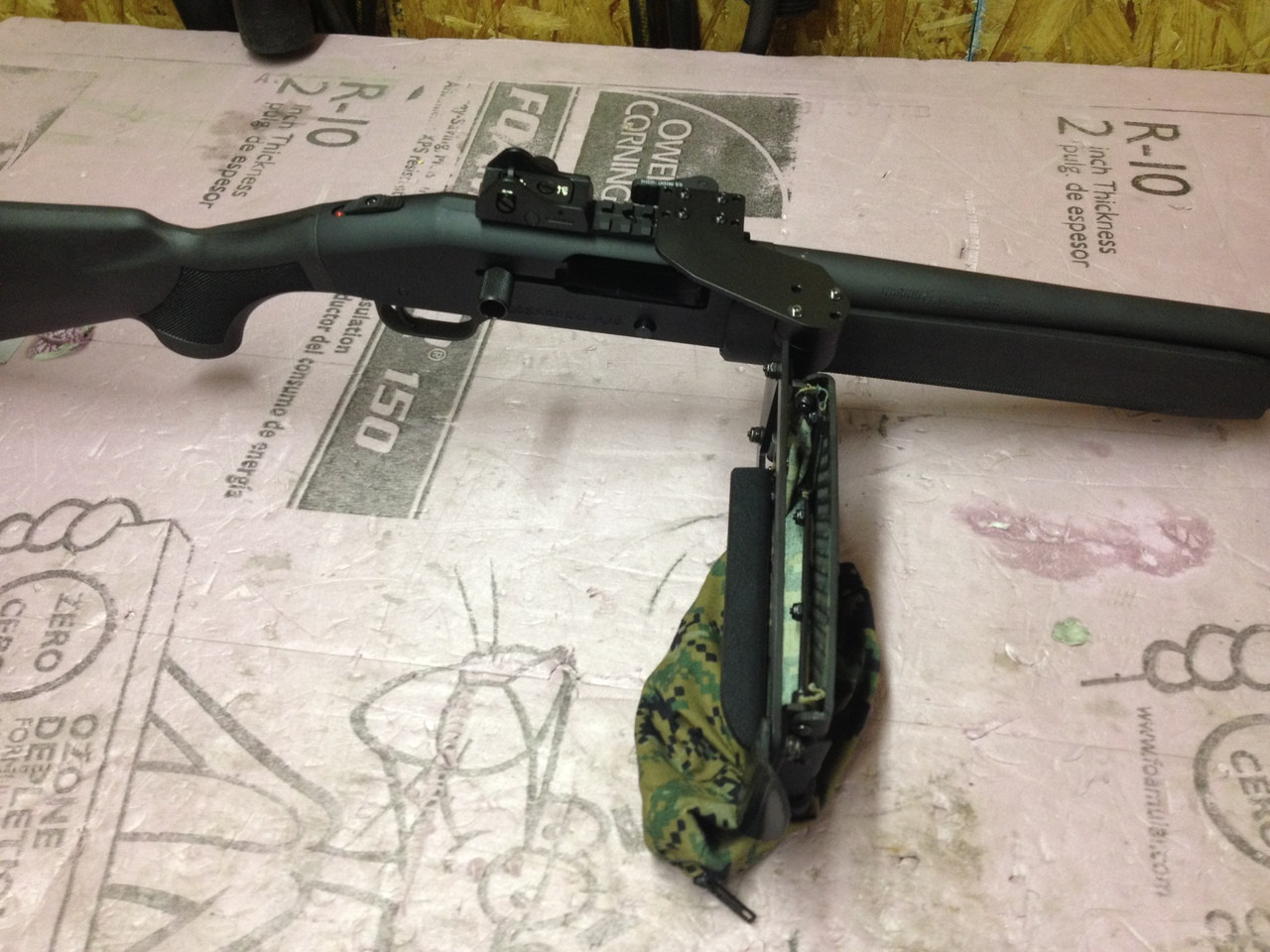 shown here used as a kickstand on Mossburg 930 SPX.