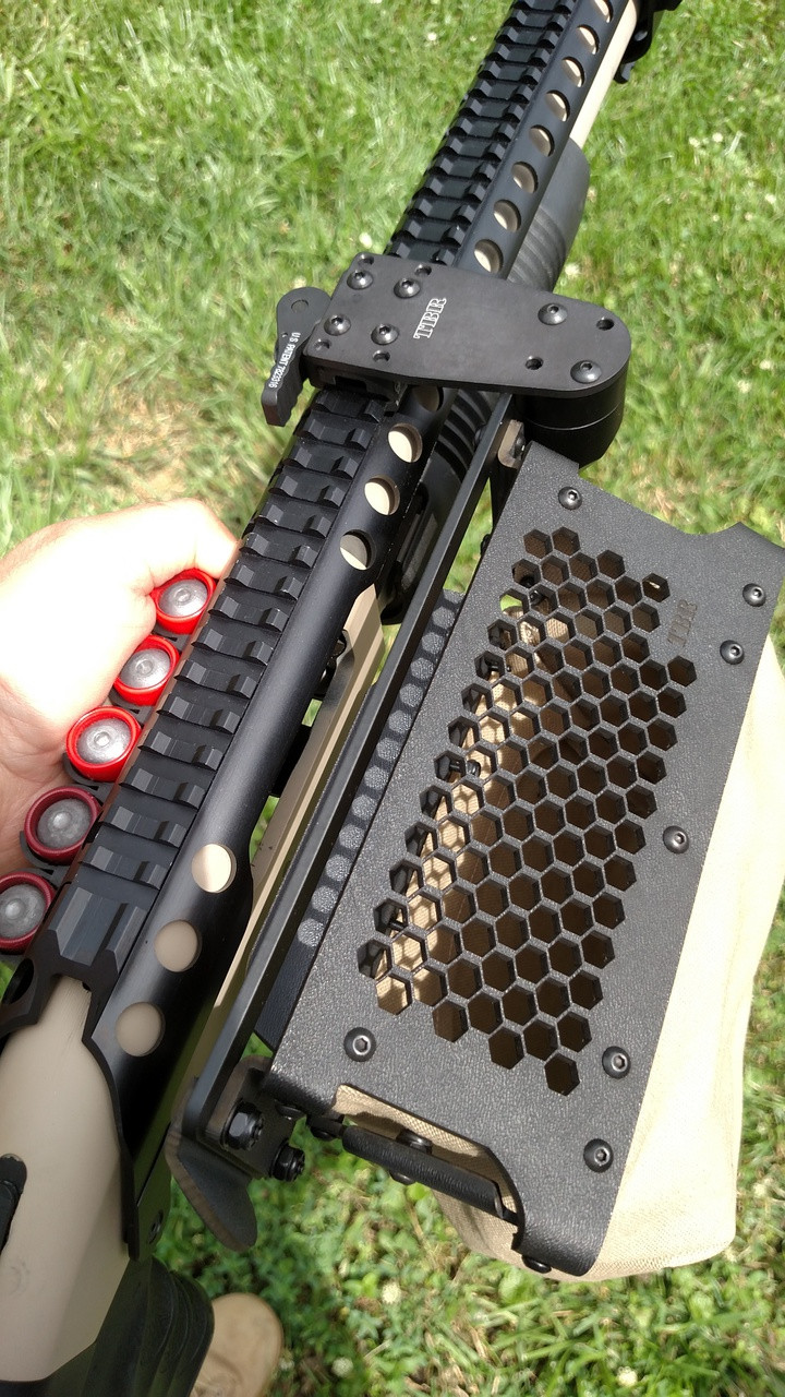"""shown with """"0"""" offset bracket on pump shotgun equipped with full length rail on top.   email us if you need this configuration."""