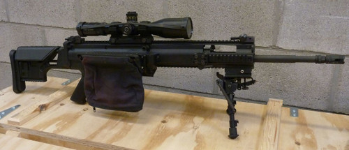 Shown on FN PR/MK 20 SCAR rifle.