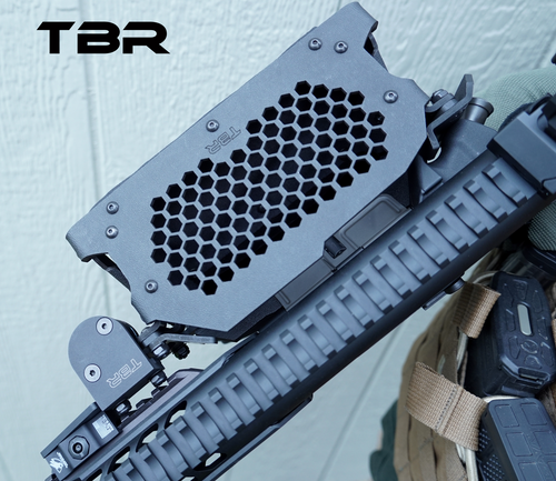 Operator model brass catcher for MCX equipped with the smaller factory diameter handguard.  (not suppressor compliant).