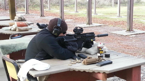 vented and open design allows for dissipation of extra gases coming from ejection port when using a suppressor.