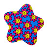 Funky Star Sticker with Flower Power Smiley Faces
