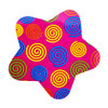 Funky Star Sticker with Mini Swirls