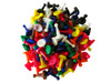 100 Count - Assorted Game Pawns (10 Colors)