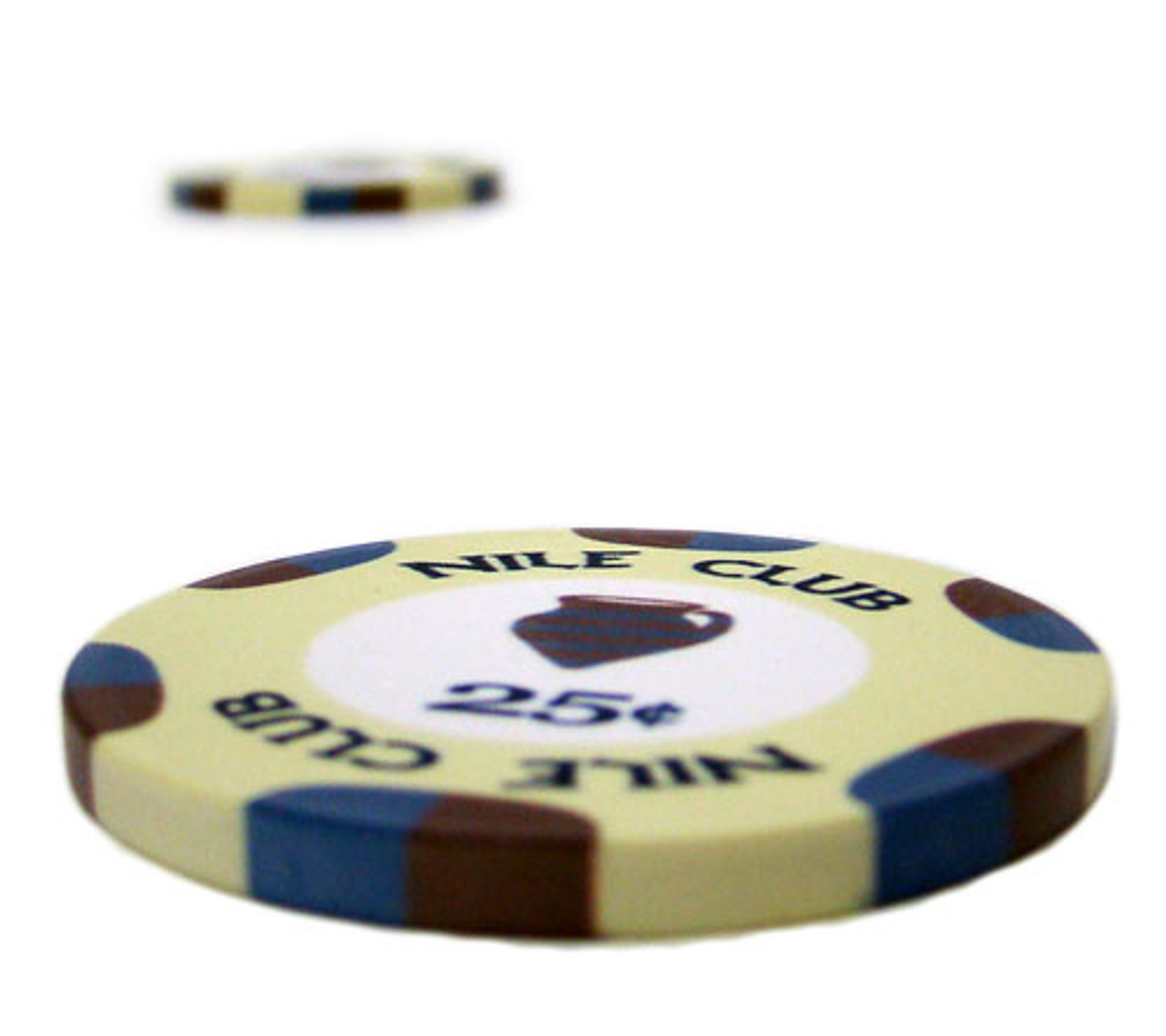 25 $10 Nile Club 10 Gram Ceramic Casino Quality Poker Chips