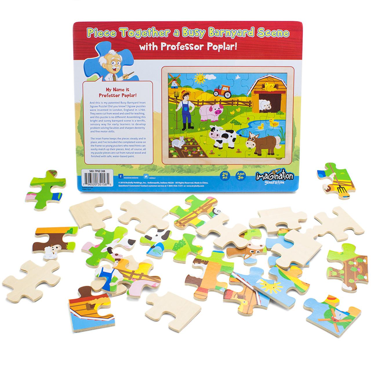 Busy Barnyard Inset Jigsaw Puzzle