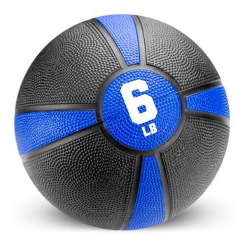6lb Tuff Grip Rubber Medicine Ball