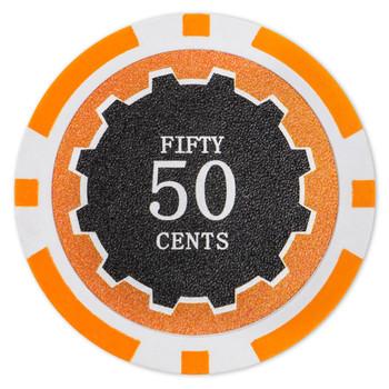 Eclipse 14 Gram Poker Chips - .50¢ (cent)