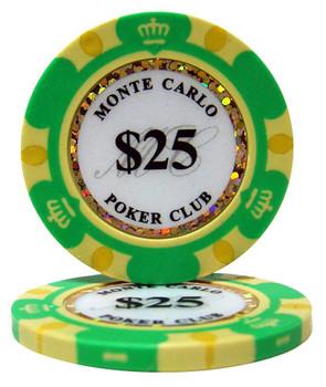 $25 Monte Carlo 14 Gram Poker Chips