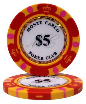$5 Monte Carlo 14 Gram Poker Chips