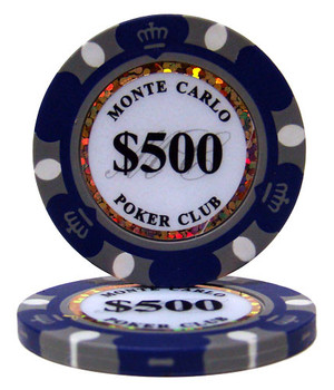 $500 Monte Carlo 14 Gram Poker Chips