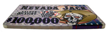 $100,000 Nevada Jack 40 Gram Ceramic Poker Plaque