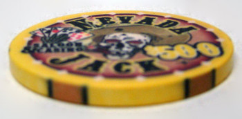 $500 Nevada Jack 10 Gram Ceramic Poker Chip