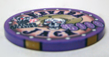 $5000 Nevada Jack 10 Gram Ceramic Poker Chip