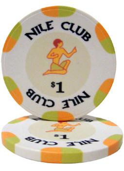 $1 Nile Club 10 Gram Ceramic Poker Chip