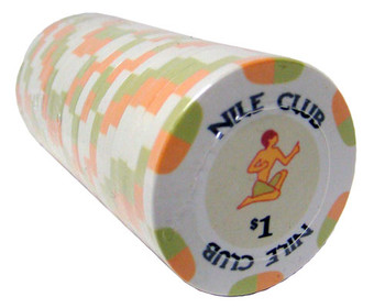 $1 Nile Club 10 Gram Ceramic Poker Chip