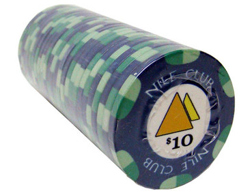 $10 Nile Club 10 Gram Ceramic Poker Chip