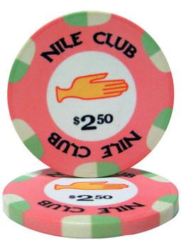 $2.50 Nile Club 10 Gram Ceramic Poker Chip