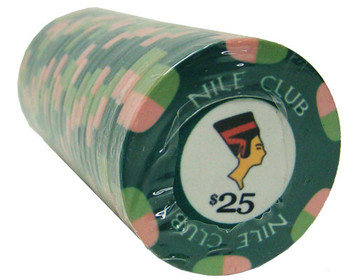 $25 Nile Club 10 Gram Ceramic Poker Chip