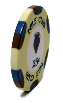 .25¢ (cent) Nile Club 10 Gram Ceramic Poker Chip