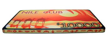 5 $10,000 Nile Club 40 Gram Ceramic Poker Plaques