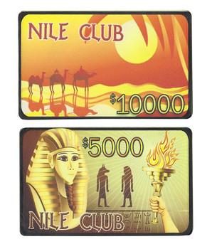 10 Nile Club 40 Gram Ceramic Poker Plaques - 5 of Each