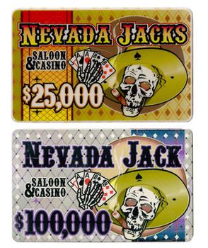 5 of Each Nevada Jack 40 Gram Ceramic Poker Plaques