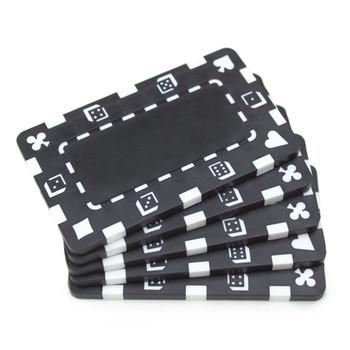 5 Black Rectangular Poker Chips
