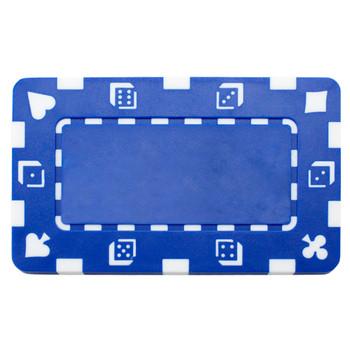 5 Blue Rectangular Poker Chips