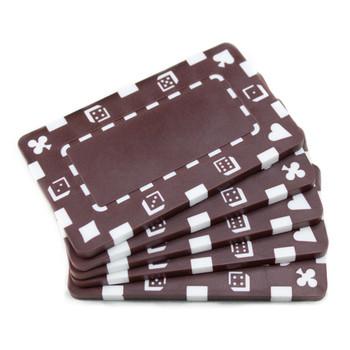 5 Brown Rectangular Poker Chips
