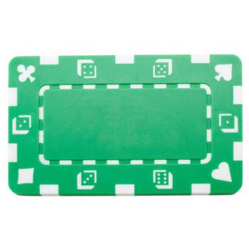 5 Green Rectangular Poker Chips