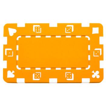 5 Orange Rectangular Poker Chips