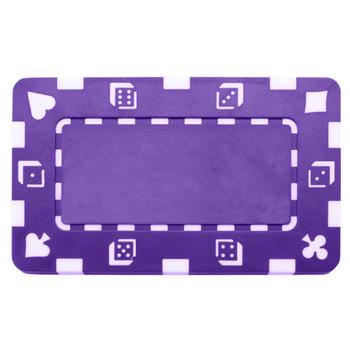 5 Purple Rectangular Poker Chips