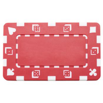 5 Red Rectangular Poker Chips