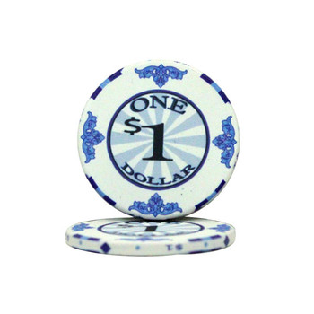 $1 Scroll 10 Gram Ceramic Poker Chip