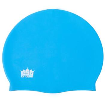 Silicone Swim Cap, Light Blue