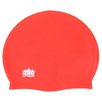 Silicone Swim Cap, Red