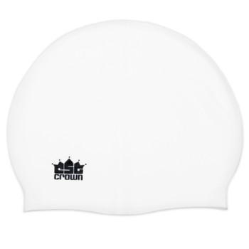 Silicone Swim Cap, White