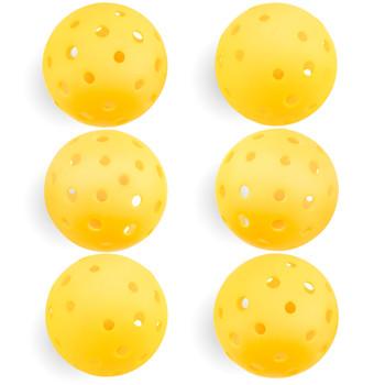 6-Pack of Pickleball Balls, Goldenrod Yellow