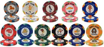 Nile Club 10 Gram Poker Chip - 11 Chips
