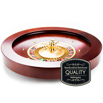 "19.5"" Casino Grade Deluxe Wooden Roulette Wheel"