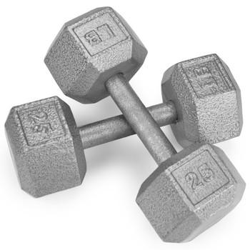 25lb Cast Iron Hex Dumbbell