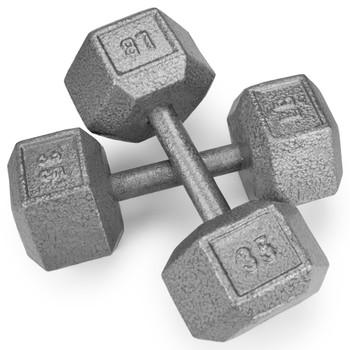 35lb Cast Iron Hex Dumbbell