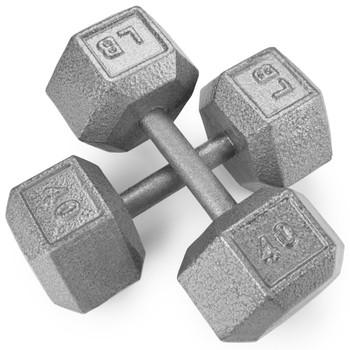 40lb Cast Iron Hex Dumbbell