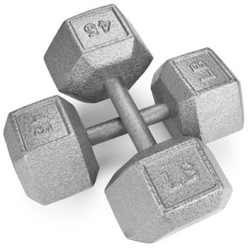 45lb Cast Iron Hex Dumbbell