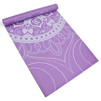 3mm Lilac Premium Printed Yoga Mat